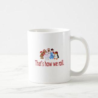How We Roll Christmas Gang Coffee Mug