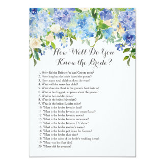 How well do you know the bride? card