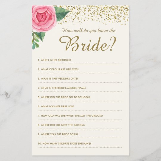 How Well Do You Know The Bride Game