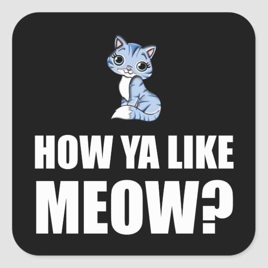 How You Like Meow Cat Square Sticker