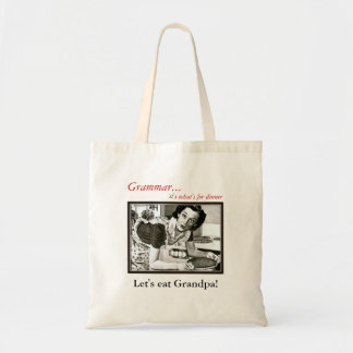 How you Should use a Comma Grammar Nazi Tote Bag