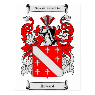 Howard Coat of Arms Postcard