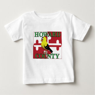 HOWARD COUNTY with goldfinch Baby T-Shirt