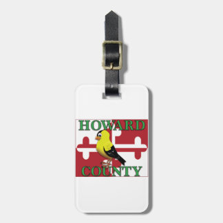 HOWARD COUNTY with goldfinch Luggage Tag