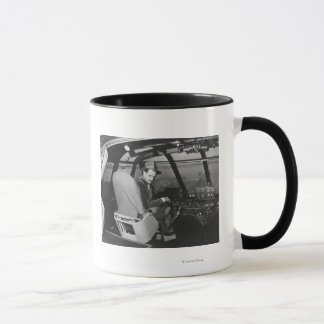 Howard Hughes in Spruce Goose Wooden Plane Mug