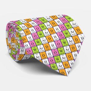 Periodic table ties zazzle au howard periodic table name tie urtaz Choice Image