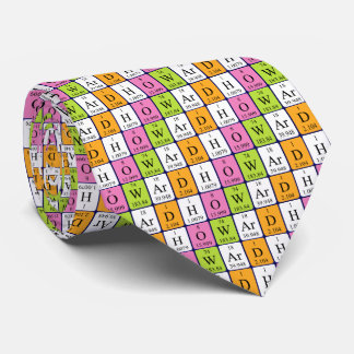 Howard periodic table name tie