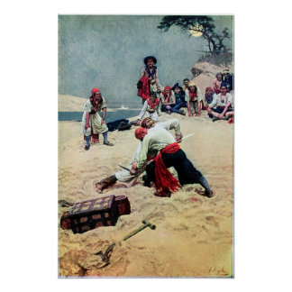 Howard Pyle Who Shall be Captain Poster