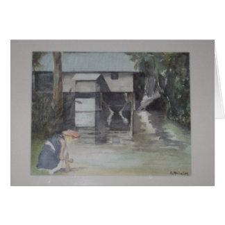 Howard's Mill c.1840 near Jakin,GA by E. McClellan Card