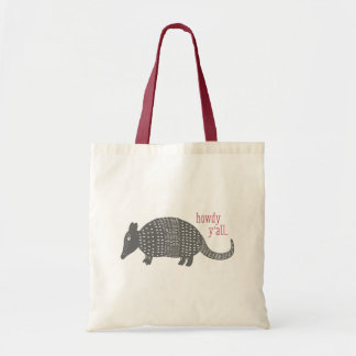 Howdy Armadillo Texas Tote Bag