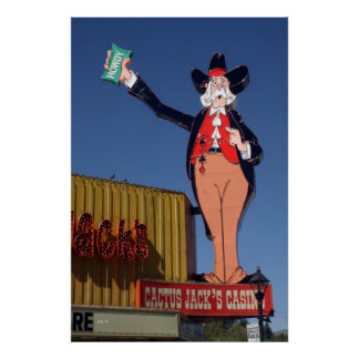 Howdy Cactus Jack s Casino Poster