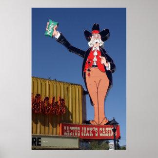Howdy, Cactus Jack's Casino Poster