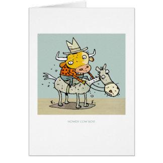 Howdy Cow-Boy! Greeting Card