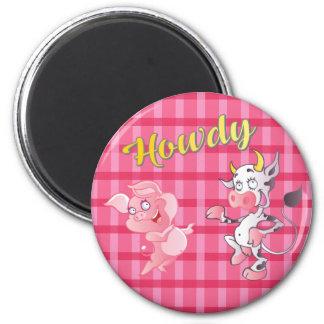 Howdy Cow N' Pig Standard Magnet