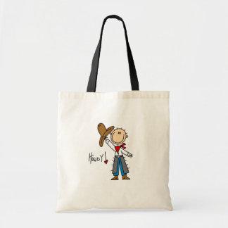 Howdy! Cowboy Stick Figure Bag