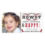 Howdy Cowboy Western Xmas Photocard Photo Cards