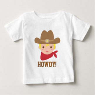 Howdy, Cute Cowboy for Little Boys Baby T-Shirt