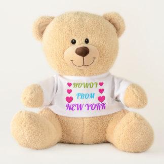 HOWDY FROM NEW YORK Teddy Bear