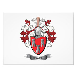 Howell Family Crest Coat of Arms Photo