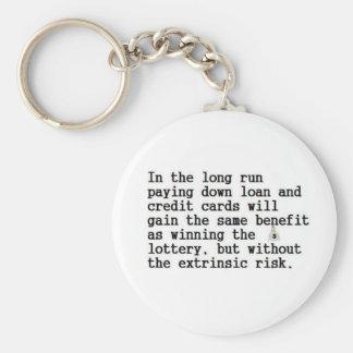 HowGuaranteeWinLottery Basic Round Button Key Ring