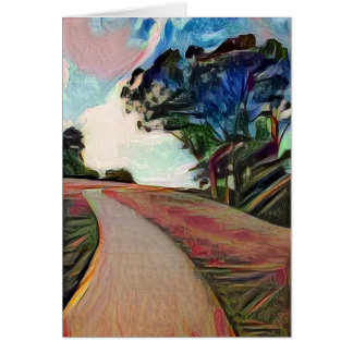 Howick Walk - Art Greeting Card
