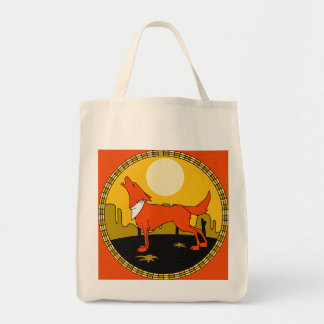 Howing at the  Moon tote bag