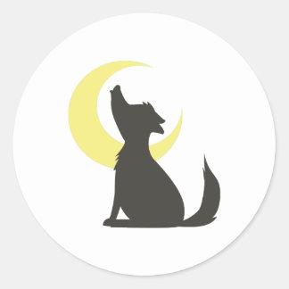 Howl At Moon Round Sticker