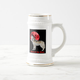 Howl at the red moon beer stein