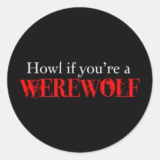 Howl Classic Round Sticker