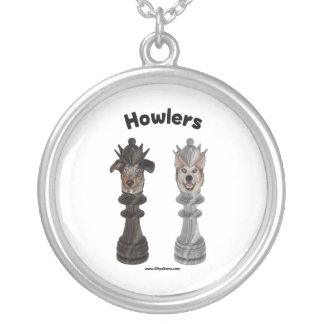 Howlers Chess Dogs Necklace