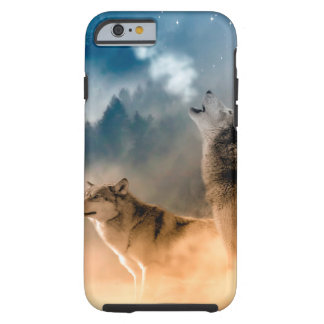 Howlin wolf - wolf art - moon wolf - forest wolf tough iPhone 6 case