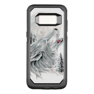 Howling at the Face in the Moon OtterBox Commuter Samsung Galaxy S8 Case