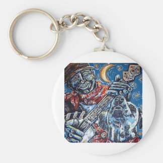 howling at the moon key chain