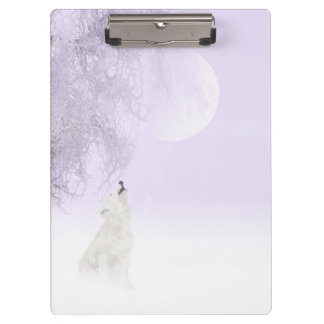 Howling at the moon wolf clipboard