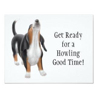 Howling Basset Invitation