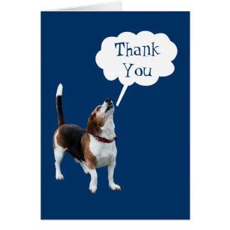 Howling Beagle Cute Dog Thank You Note Card