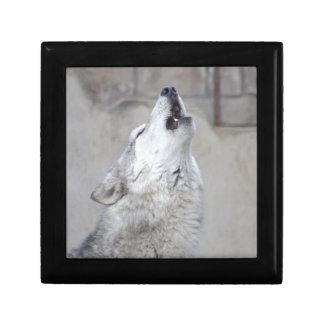 Howling Gray Wolf Gift Box