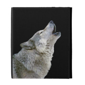 Howling grey wolf beautiful photo portrait, gift iPad cases