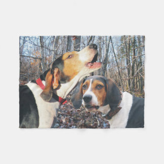 Howling Treeing Walker Coonhound Fleece Blanket