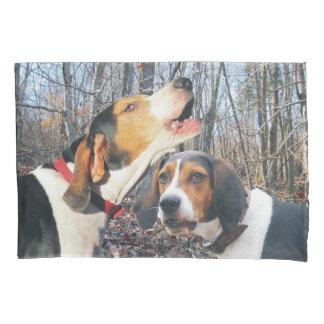 Howling Treeing Walker Coonhound Pillow Case