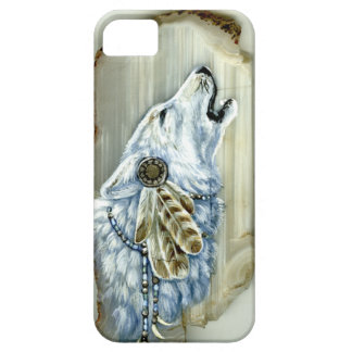Howling White Wolf iPhone 5 Cover