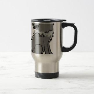 Howling wolf animal art travel mug