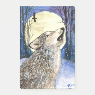 Howling - Wolf Art Post-it Notes