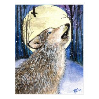 Howling - Wolf Art Postcard