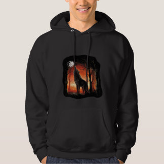 Howling Wolf at Sunset Hoodie