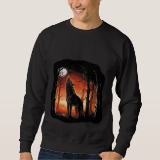 Howling Wolf at Sunset Sweatshirt