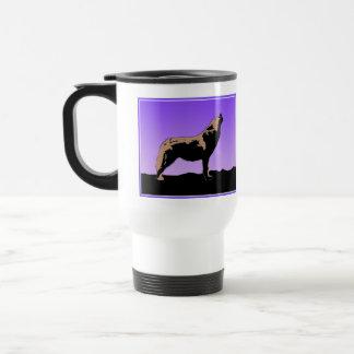 Howling Wolf at Sunset Travel Mug
