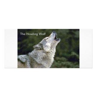 Howling wolf beautiful photo custom rack card