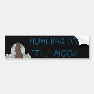 Howling Wolf Car Bumper Sticker