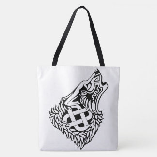 Howling Wolf Celtic Knotwork Tote